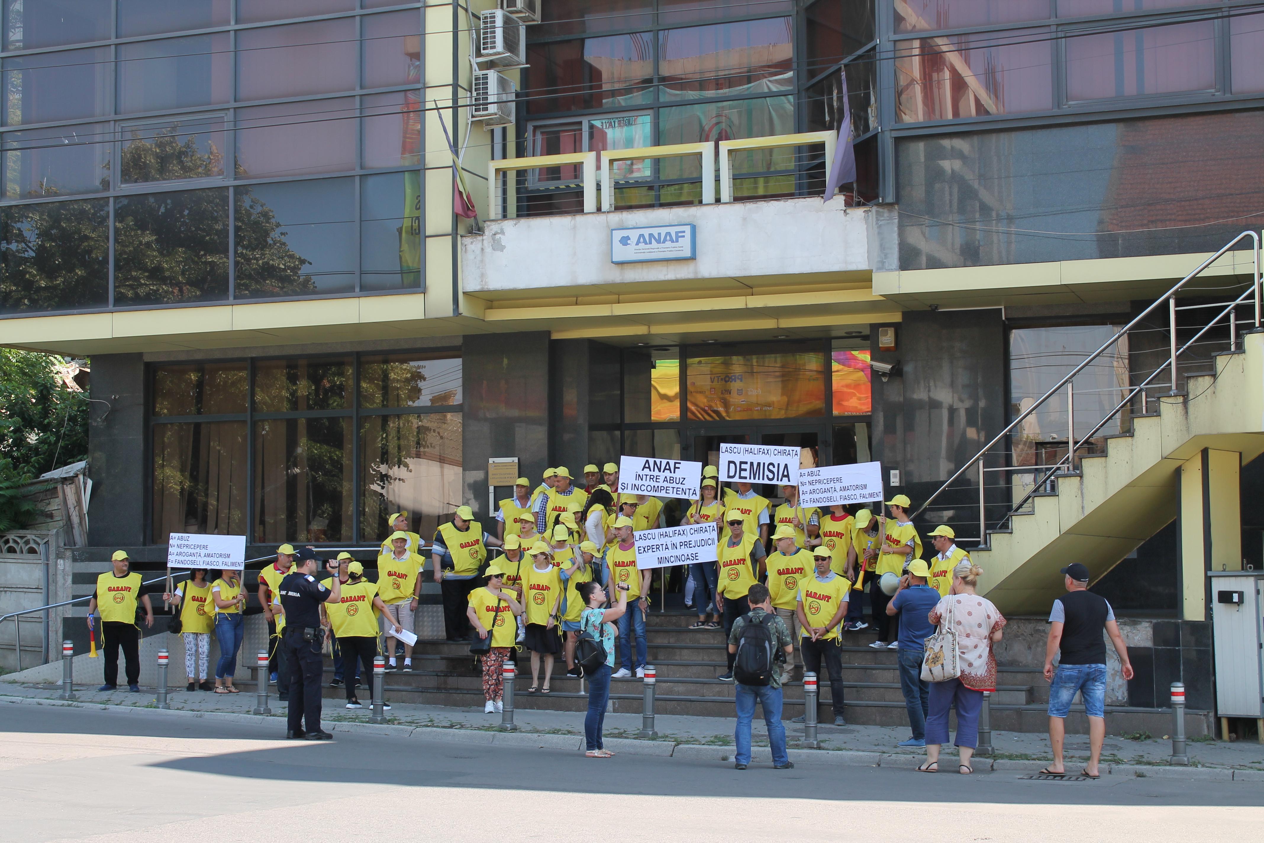 Protest ANAF Constanta