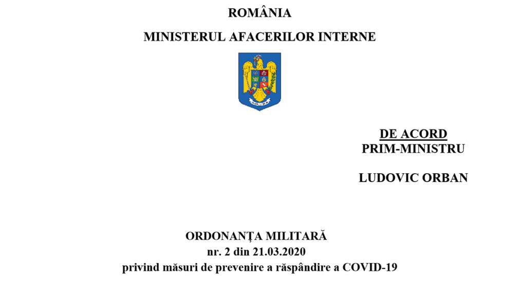 Ordonanta Militara